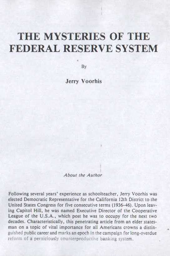 THE MYSTERIES OF THE FEDERAL RESERVE SYSTEM - page 2